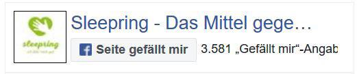 Anti-Schnarchring bei Facebook